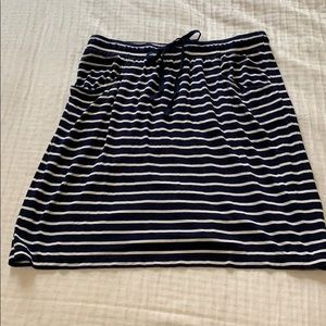 MAX STUDIO NAVY STRIPED COTTON SKIRT